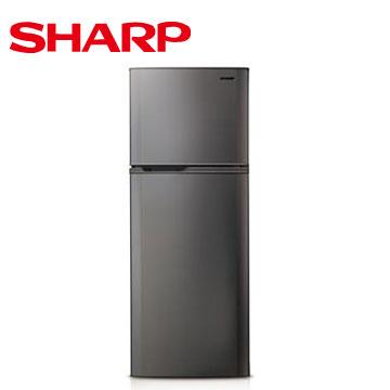 【節能補助】SHARP 310公升1級雙門電冰箱(銀色)