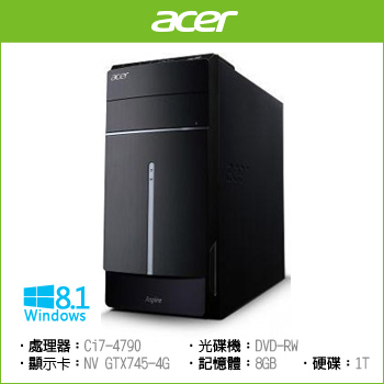 Acer TC-605 Ci7-4790 1TB 四核獨顯