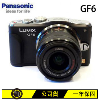 Panasonic GF6KGT9可交換式鏡頭相機-黑  DMC-GF6KGT9-K