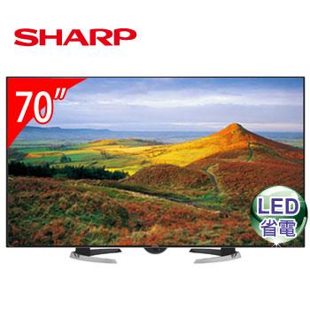 SHARP 70型日本原裝LED液晶電視