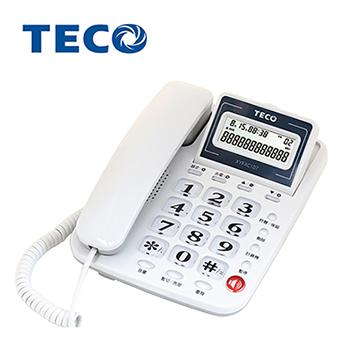 TECO大字鍵來電顯示有線電話 XYFXC107