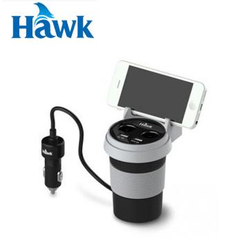 Hawk C510杯型2+2車用充電器-黑