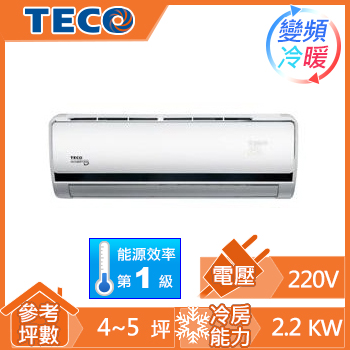 TECO豪華一對一變頻冷暖空調MS-LV22IH