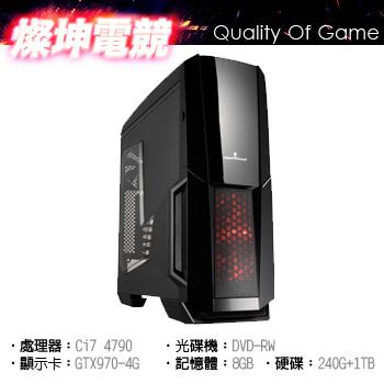 【燦坤電競】維京戰士 Ci7 GTX970 GAMING 4G 雙碟