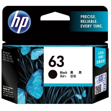 HP 63 黑色墨匣