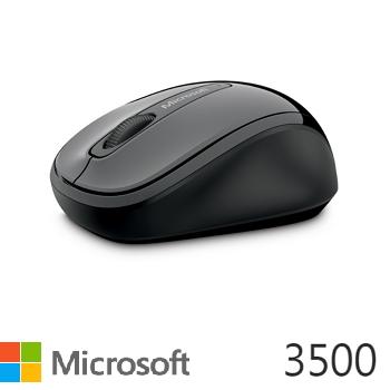 Microsoft 無線行動滑鼠3500-灰黑
