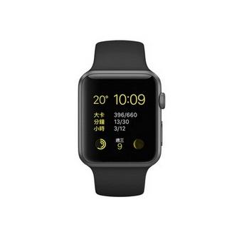 Apple Watch Sport 42mm/太空灰鋁金屬/黑色運動錶帶 MJ3T2TA/A