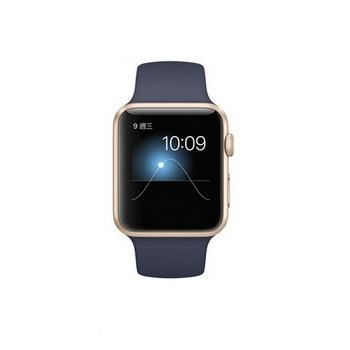 【42mm】Apple Watch Sport 午夜藍色運動 / 金色鋁金屬 MLC72TA/A