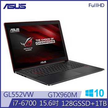 ASUS GL552VW Ci7 GTX960 ROG 電競筆電