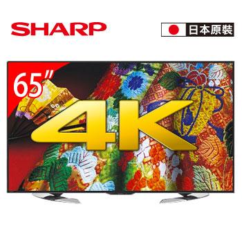 [福利品] SHARP 65型 4K安卓智慧電視