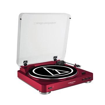 鐵三角 LP60黑膠唱盤-紅