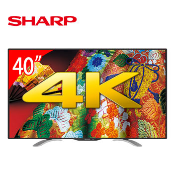 SHARP 40型4K LED電視
