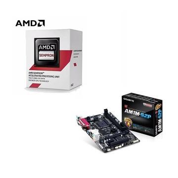 AMD Semperon 3850 四核處理器 + 技嘉 GA-AM1M-S2P 主機板