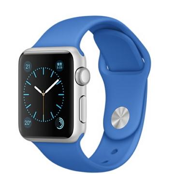 【38mm】Apple Watch Sport 寶藍色運動 / 銀色鋁金屬