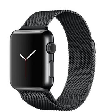 【38mm】Apple Watch 米蘭式錶環 / 太空黑不鏽鋼