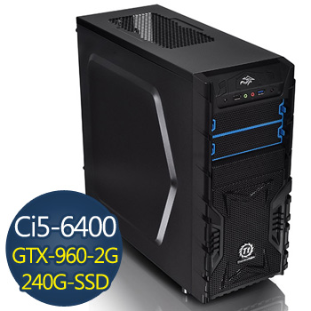 華碩電競-寒冰戰士 Ci5-6400 8G 240G GTX960 電競獨顯