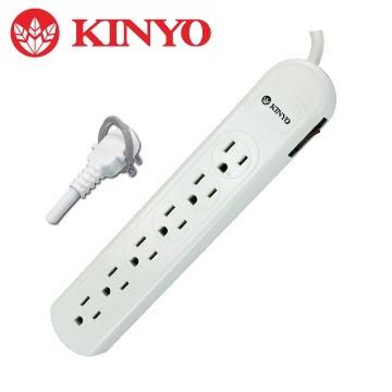 KINYO 1開6插安全延長線1.5M