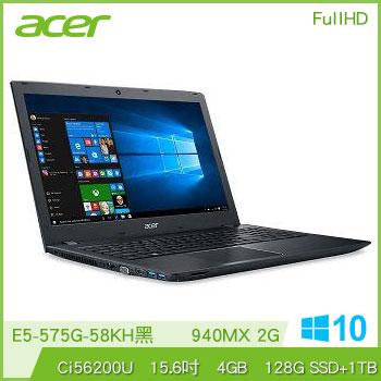 【混碟款】ACER E5-575G Ci5 NV940 獨顯筆電(黑)
