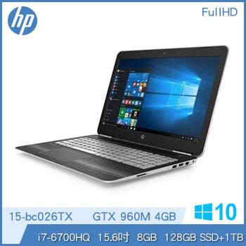 【混碟款】HP Pavilion 15-bc026TX Ci7 GTX960 輕薄獨顯筆電-星空銀