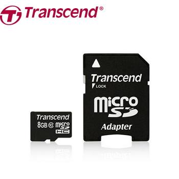 【8G】創見 Micro SD C10記憶卡-附轉卡