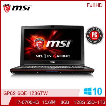 【混碟款】MSI GP62 Ci7 GTX950M電競獨顯筆電
