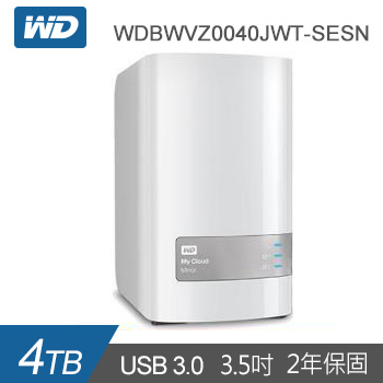 【4TB (2TBx2)】WD 雲端儲存 MyCloud Mirror Gen2