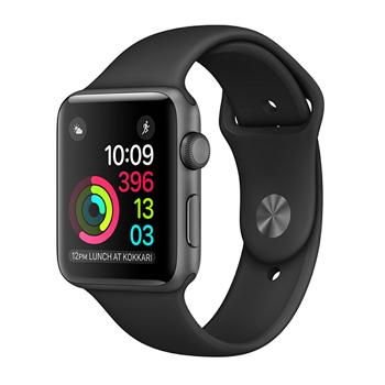 【42mm】Apple Watch Series 1/太空灰色鋁金屬/黑色運動