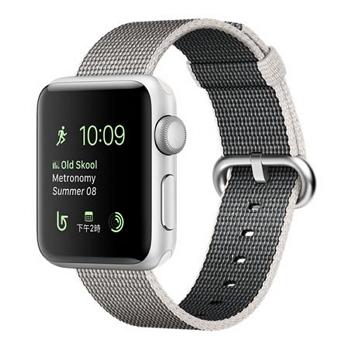 【42mm】Apple Watch Series 2/銀色鋁金屬/珍珠色尼龍