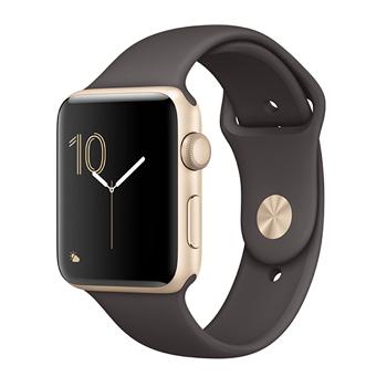 【42mm】Apple Watch Series 2/金色鋁金屬/可可色運動