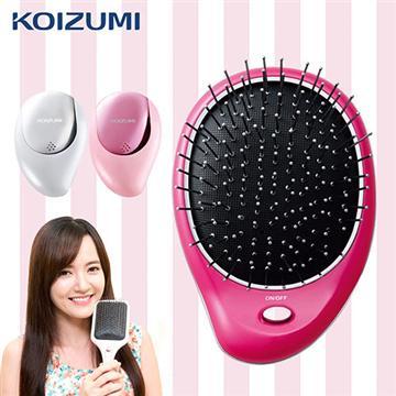 KOIZUMI小泉成器 美髮梳附收納袋-粉紅