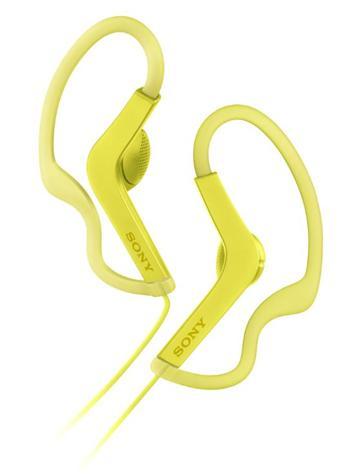 SONY MDR-AS210AP有線運動款耳機-黃
