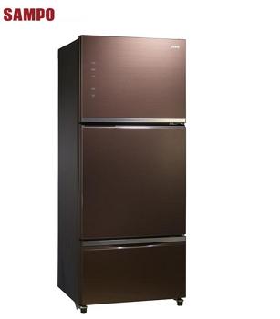 聲寶 530公升玻璃三門變頻冰箱