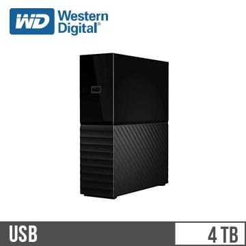 【4TB】WD 3.5吋外接硬碟(My Book)