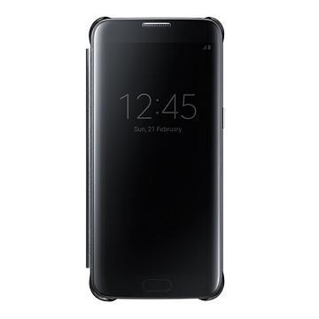 SAMSUNG S7 Edge 全透視感應皮套-黑