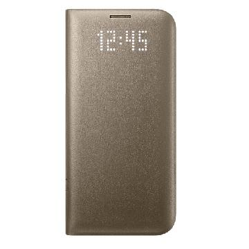 SAMSUNG S7 Edge 皮革翻頁式皮套-金