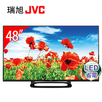 JVC 48型LED液晶顯示器+視訊盒