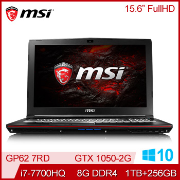 【混碟款】MSI GP62 7RD GTX1050 電競獨顯筆記型電腦