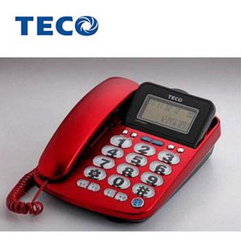 TECO大字鍵來電顯示有線電話
