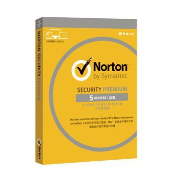 諾頓網路安全入門版 5台電腦2年版(盒裝版)