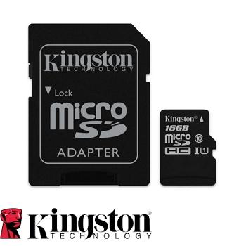 【UHS-I/16G】金士頓 MicroSDHC(C10) 記憶卡