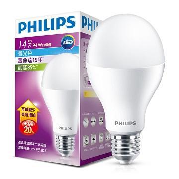 飛利浦單電壓 Gen3 LED燈泡14W白光