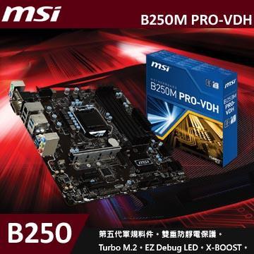 微星 B250M PRO-VDH 主機板 (MATX)