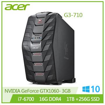 Acer G3-710 Ci7-6700 GTX1060 電競桌上型電腦