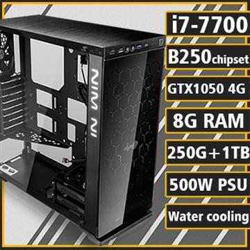 [闇影遊俠] - 七代Ci7水冷B250平台GTX1050獨顯組裝電腦(雙碟版)