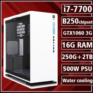 [地獄犬] - 七代Ci7水冷B250平台GTX1060獨顯組裝電腦(雙碟版)