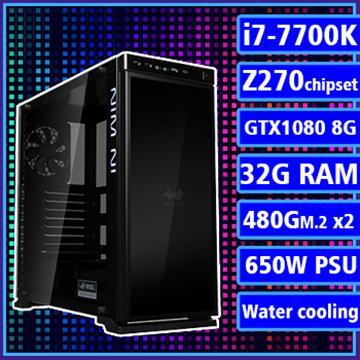 [極光之星] - 七代K版Ci7雙水冷Z270X平台GTX1080獨顯組裝電腦(PCIe SSD)