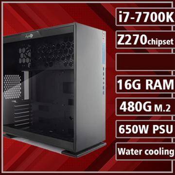 [鋼鐵勇士] - 七代K版Ci7水冷Z270平台組裝電腦(PCIe SSD)