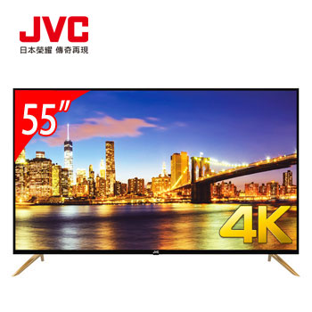 JVC 55型4K智慧聯網顯示器+視訊盒