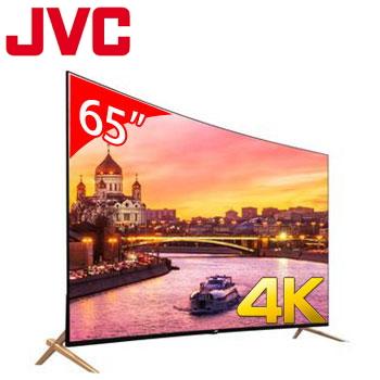 JVC 65型廣色域4K智慧聯網顯示器+視訊盒