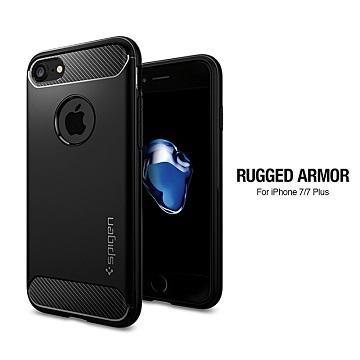 【iPhone 7】SGP RuggedArmor 防震保護殼-黑